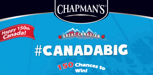 David Chapman's – Canada Big #CanadaBig – Win a grand prize of a trip for 4 to the Yukon OR 1 of 149 other prizes