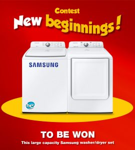EconoMax – New Beginnings – Win a Samsung washer/dryer set valued at $1,099