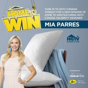 HGTV Canada – #HomeToWin – Tempur-Pedic Canada – Win 1 of 3 Tempur-Cloud Soft and Conforming Pillows valued at $239 each