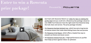 House & Home – 2017 Rowenta Pure Perfection – Win a prize package valued at $669