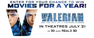 Landmark Cinemas – Valerian and the City of a Thousand Planets – Win a prize pack consisting of a VIP Movie Card for 1 year and more