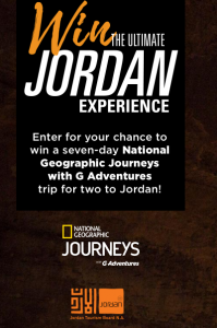 Les Publications Groupe TVA – Win a 7-day National Geographic Journeys with G Adventures trip for 2 to Jordan valued at $6,800 CAD