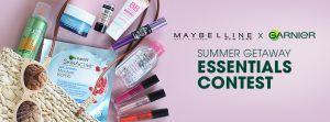 Maybelline New York Canada & Garnier Canada – Win 1 of 3 sets of Maybelline New York & Garnier products valued at $100 each