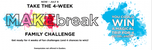 Michaels Stores – MAKEbreak Family Challenge – Win a $10,000 Mastercard Gift Card