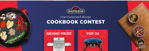 Napoleon Grills – Win a grand prize of a Napoleon LEX Gas Grill plus more OR 1 of 24 minor prizes