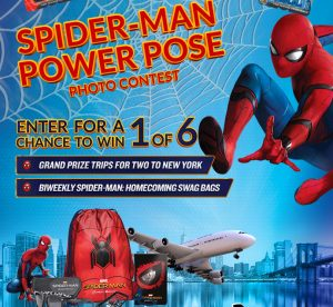 Panasonic Canada – Spider-Man: Homecoming Power Pose – Win 1 of 6 trips for 2 to Manhattan, New Work OR 1 of 6 Biweekly prizes