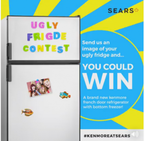Sears Canada – The Ugly Fridge – #KenmoreatSears – Win a Kenmore French Door Bottom Freezer Refrigerator in White valued at $2,199