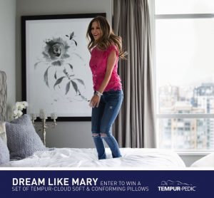 Tempur-Pedic Dream Like Mary – Win 2 Tempur-Cloud Soft and Conforming Pillow valued at $479 CDN