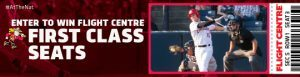 Vancouver Canadians & Flight Centre – Win 1 of 38 prizes of 4 Flight Centre First Class seat tickets for 4 people for regular season home game