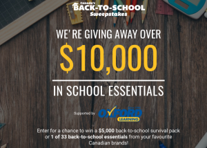 Canada's Back-to-School – Win a grand prize valued at $4,900 OR 1 of 33 secondary prizes