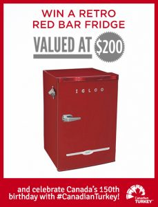 Canadian Turkey – Win a retro red bar fridge valued at $200