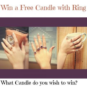 Candle Scent – Win 1 of 3 Candle Rings