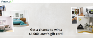 Financeit – #CanadaIsHome – Win a $1,000 Lowe's Canada gift card