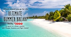 Flight Centre – Win $3,000 to spend towards a dream vacation with WestJet Vacations