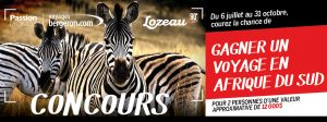 LL Lozeau LTEE and Voyages Bergeron – Win a Passion South Africa Tours for 17 days for 2 valued at $11,590