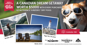 PetSmart – A Canadian Dream Getaway – Win a grand prize of a $5,000CAD credit for a trip OR 1 of 149 minor prizes