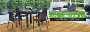 Aosom – Win an Outsunny 5pcs Dining Set