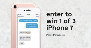 Bouclair – Win 1 of 3 iPhones 7