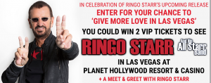 Canada.com – The Ringo Starr – Win a 2-night trip package for 2 to Las Vegas to see Ringo Starr in concert valued at $5,000 CDN