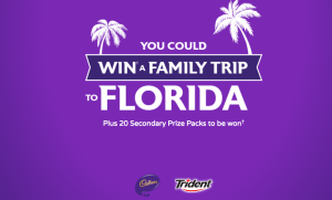 Mondelez Canada – 2017 Catch Some Joy – Win a trip for 4 to Tampa Bay, Florida, USA valued at $7,800 CAD