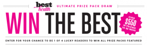 Reader's Digest Magazines Canada – Best Health Magazine – Win 1 of 4 Best Health prize packages valued at $566 each