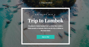 The Discoverer – Lombok – Win $2,000 towards airfare; 5-night stay & custom itinerary from Lombok Discoverers