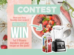 A. Lassonde – Smoothie Bowl – Win 1 of 5 Vitamix Blenders valued at $799 CAD each