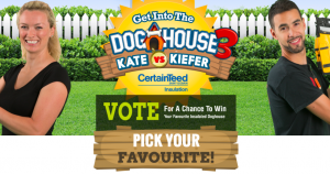 CertainTeed Insulation – Get Into the Doghouse – Vote to Win a Dog House