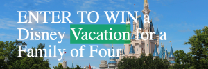 Children's Education Funds – Win a family trip of 4 to the Walt Disney World Resort in Florida valued at $5,000CDN