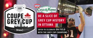 Dr. Oetker Canada – Win a trip for 2 to Ottawa plus 2 tickets to attend the 105th Grey Cup valued at $5,500 CAD