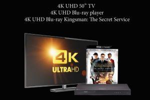 Eat It Up Media – Win a 4K UHD 50″ TV; 4K UHD Blu-ray player & 4K UHD Blu-ray Kingsman: The Secret Service