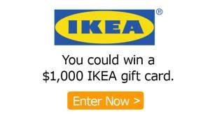IKEA Canada – Maritimes – Win a $1,000 Ikea Gift Card