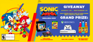 Jones Soda Co – Sonic Mania – Win a grand prize of an Xbox One S console plus more valued at $800 OR 1 of 29 Daily prizes
