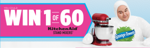 Kruger Products – SpongeTowels – Win 1 of 60 KitchenAid Artisan Series Stand Mixer valued at $599 CAD each