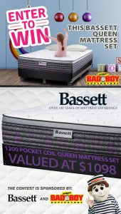 Lastman's Bad Boy – Win a Bassett Queen Radiance Collection Mattress Set valued at $1,098