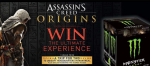 Monster Energy Canada – Assassin's Creed Origins Experience – Win a grand prize of a trip for 2 to Montreal, Quebec OR 1 of 35 minor prizes