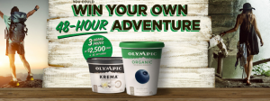 Olympic Dairy Products – Win 1 of 3 grand prizes of a $2,500 adventure credit OR 1 of 25 minor prizes of a $100 e-gift card each