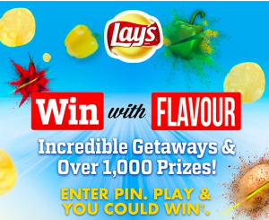 PepsiCo Canada – Lay's Win with Flavour – Win 1 of 2 Flavourful Getaways for 2 to Budapest and Beijing; 1 of 45 Road Trip prize pack OR 1,125 other gift cards