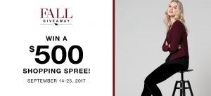 Ricki's Fashions – Fall Giveaway – Win a $500 Rick's Gift Card
