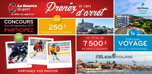 The Source of Sport – Take a Stop Time – Win an 8-day trip to Portugal at the Pestana Hotel in Cascais PLUS La Source Du Sport gift cards