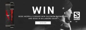 Billabong Canada – Mens Snow – Win a brand new Salomon Snowboard PLUS $500 to spend on Billabong.com