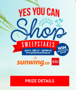 Queenston Duty Free – Win a grand prize of an all-inclusive Sunwing vacation to Riu Palace Jamaica & Appleton Estate Rum tour valued at $5,000 OR monthly prizes