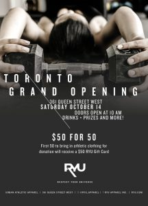 RYU Toronto – Win a grand prize of a $500 CDN RYU Gift Card OR 1 of 5 minor prizes