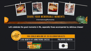 Saputo Dairy Products – Celebrate Cheese – Win 1 of 20 prizes of a Polaroid camera & Armstrong cheese valued at C$300 each