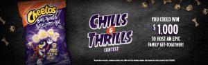Tasty Rewards – Cheetos Chills & Thrills – Win a $1,000 cash prize
