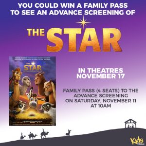 Tribute Publishing – Kids Tribute's – Win 1 of 5 sets of 4 passes to see The Star in Toronto & Montreal