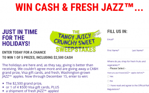 ENZAFRUIT Products – Envy Presents: Tangy, Juicy, Crunchy, Sweet – Win a grand prize of $2,500 OR 1 of 4 minor prizes
