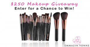 Emmalyn Vonne – Win 1 of 5 prize packs of a 22 piece Makeup Brush Set each valued at $50