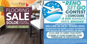 Floors First – The Reno, Set, Go – Win 5,000 AIR MILES Reward Miles