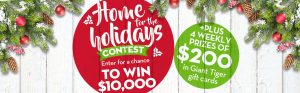 Giant Tiger Stores – Home for the Holidays Christmas – Win a grand prize of $10,000 OR 1 of 16 Giant Tiger gift cards valued at $200 each